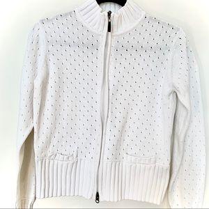 LOLE Zip-Up Cotton Sweater